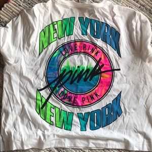 PINK NYC crop t-shirt